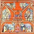 Nueva Naranja Caballo 90*90 cm Señoras Wraps Nuevo Estilo de Sarga de Seda 100% Bufanda Cuadrada Bufanda de Seda de Morera impreso Para El Otoño