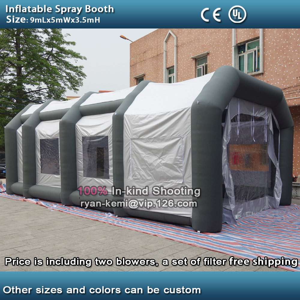 9mLx5mWx3.5mH inflatable spray booth inflatable car paint tent portable outdoor inflatable spray booth with two blowers-in Toy Tents from Toys u0026 Hobbies on ... & 9mLx5mWx3.5mH inflatable spray booth inflatable car paint tent ...