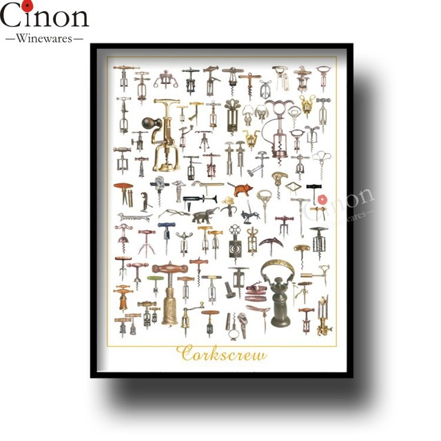 Poem Classic Wine With Wine Bottle Opener Knife Pictorial Diagram