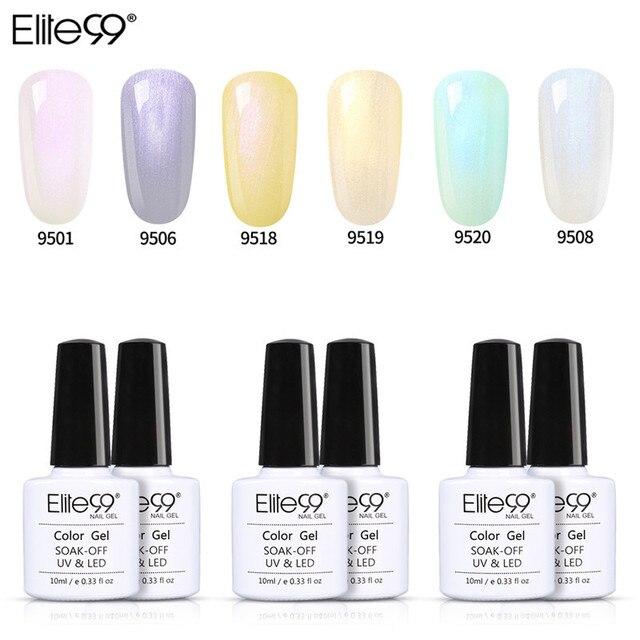 Elite99 Geschenk Sets 10ml UV Nail art Design 6 teile/los Muschel Farbe Gel Polnischen Vernis Verstärken Nagel Primer HybridGel lacke