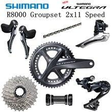SHIMANO R8000 Groupset ULTEGRA R8000 6800 Groupset Derailleurs כביש אופניים 50 34 52 36 53 39T 11 25T 11 28T 170mm 172.5mm