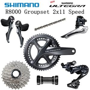Image 1 - SHIMANO R8000 Groupset ULTEGRA R8000 6800 Groupset Derailleurs כביש אופניים 50 34 52 36 53 39T 11 25T 11 28T 170mm 172.5mm