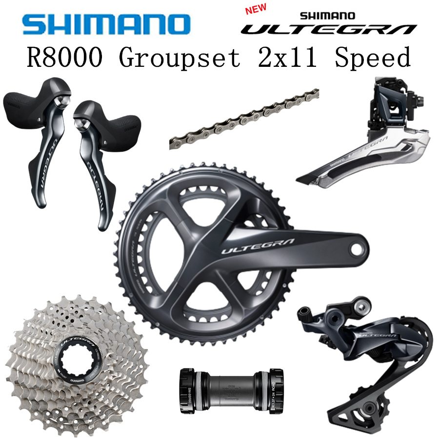 OE Shimano Ultegra FC-R8000 2 x 11 speed 50-34T 172.5mm Road TT Bike Crankset