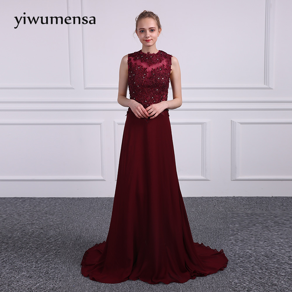 yiwumensa Brand Design Scoop Sexy Backless Wine   Evening     Dresses   2017 Custom made Long Mermaid Black Girls   dresses     Evening     dress