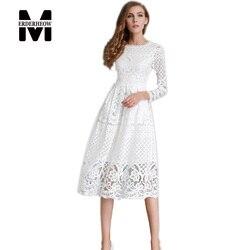 Merderheow new european 2017 spring women s lace hollow out long dresses femme casual clothing women.jpg 250x250