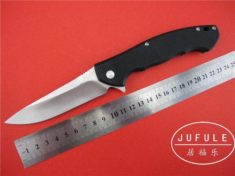 JUFULE ZT0454 font b tactics b font flipper blade folding font b knife b font 9cr18mov