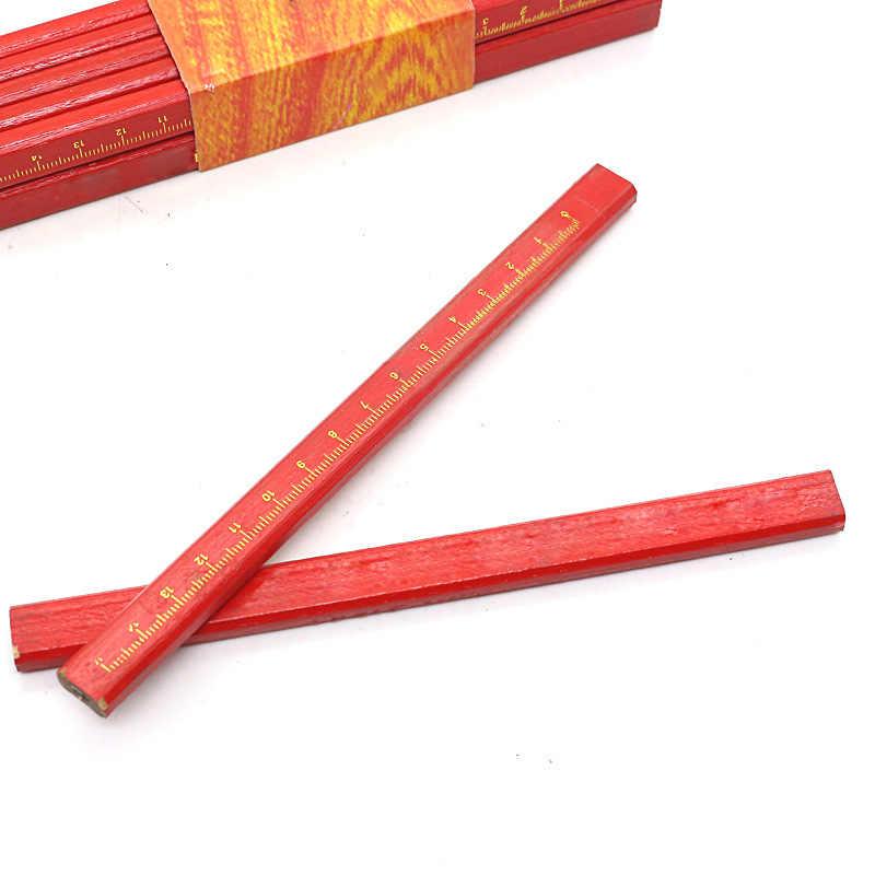 10Pcs Carpenters Pencils /& Sharpener Set Bulider Wood Work Woodwork Marking