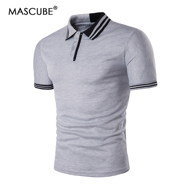 f59ab912 MASCUBE 2018 Fashion Brand Clothing Polo Homme Solid Wholesale Polo Shirt  Casual Men Tee Shirt Tops