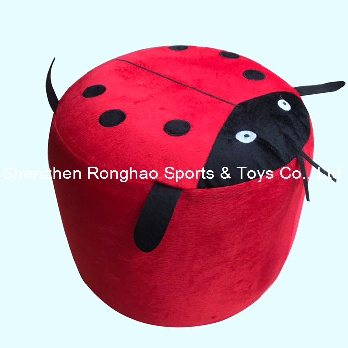 Inflatable Stool Thick PVC Cotton Cover Cartoon Plush Air Pouf Chair Lovely Pneumatic Stools Portable Coccinella SeptempunctataInflatable Stool Thick PVC Cotton Cover Cartoon Plush Air Pouf Chair Lovely Pneumatic Stools Portable Coccinella Septempunctata