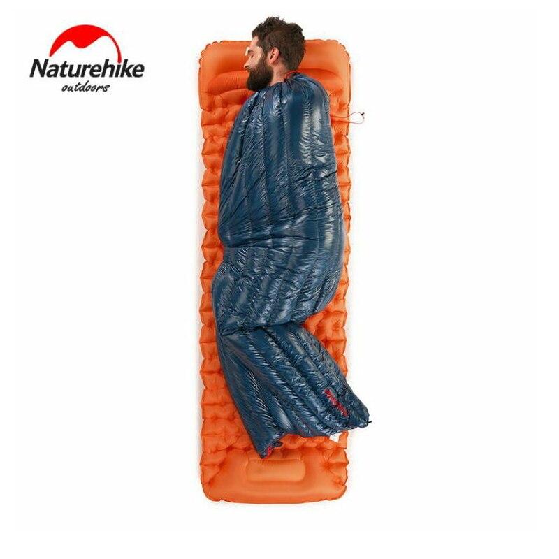 Naturetrekking 570g ultra-léger imperméable à l'eau en duvet d'oie blanche sac de couchage enveloppe Type paresseux sac Camping sacs de couchage NH17Y010-R - 4