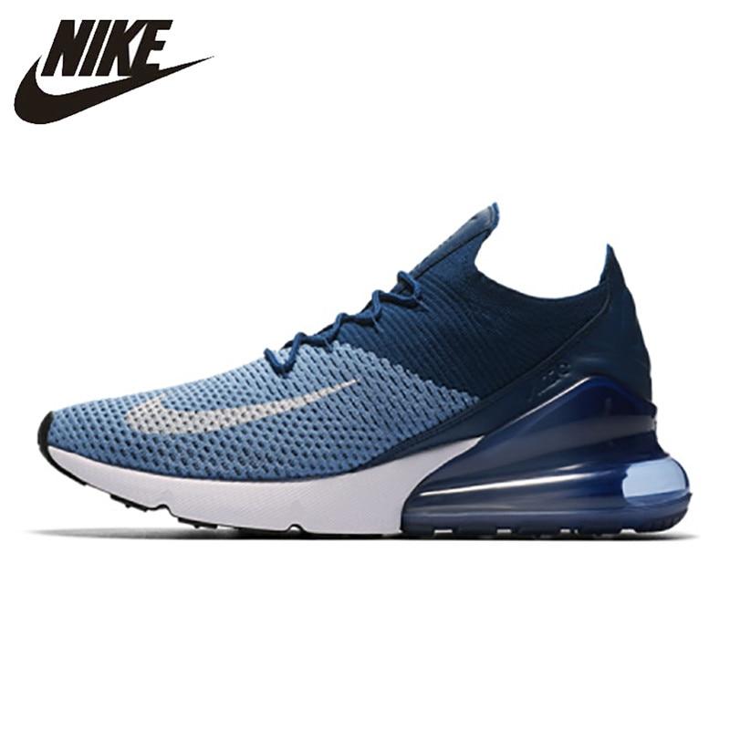 7a08db65b12274 Nike Air Max 270 Cushion Sneakers Sport Flyknit Running Shoes Classic Deep  Blue AO1023-400