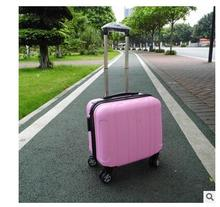 ABS+ PC Brand Children&Women 16″ Inch Short Trip Travel Trolley suitcase Boarding Case Rolling Case On Wheels  Luggage Suitcases