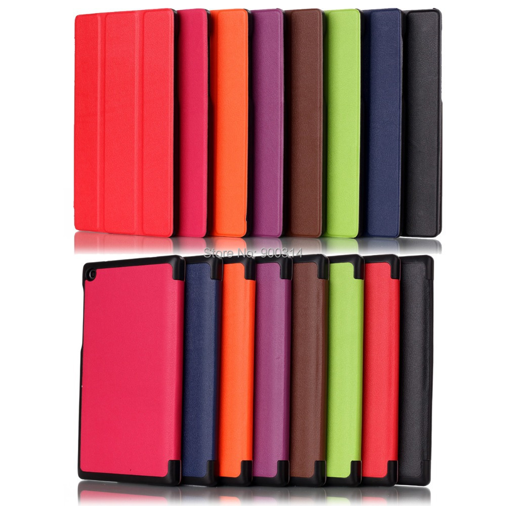 5 pcs super silm PU leather case cover for lenovoTAB 2 A7-30 tablet 7 inch tablet leather case folding cover+stylus pen