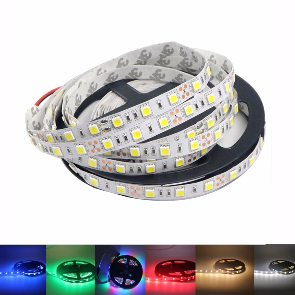 12 V LED Strip Light Tape SMD 5050 60Leds/M LED Strip Light Tape RGB LED Strip lighting diode Ribbon tape Flexible NO Waterproof crane embroidery ribbon tape detail jacket