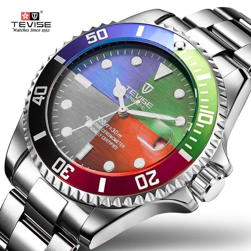 2018 Tevise Top Brand Men Mechanical Watch Automatic Date Fashion Wristwatches Sport Gold Clock Relogio Masculino Drop Shipping