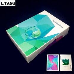 54 шт. Алмазная коллекция игральных карт, черный сердечник, бумага для покера, креативный подарок, волшебные стандартные карты, 88 мм * 63 мм, L469