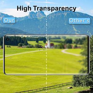 Image 3 - 10 adet/grup temperli cam Samsung galaxy S10 artı S10E S9 S8 not 10 Pro ekran koruyucu parmak izi kilidini film tam kapak