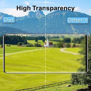 Image 4 - 100 ピース/ロットフルカバー強化ガラスサムスン galaxy S10 プラス S10E S9 S8 NOTE10 pro のスクリーンプロテクター指紋ロック解除 flim
