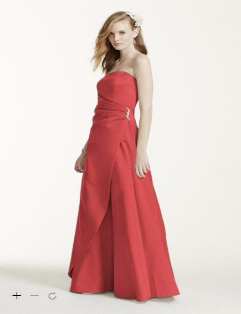 2016 long satin bridesmaid dresses strapless bodice with side 2016 long satin bridesmaid dresses strapless bodice with side drape detail and brooch adds 8567 gowns in bridesmaid dresses from weddings events on ombrellifo Images