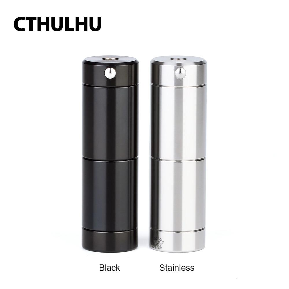 Original Cthulhu Tube MOD With Dual MOSFET Chippower By 18350/ 18650 Battery Semi-mechanical Mod Vape Mod Vs Tauren Mech Mod