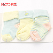 6 Pieces/lot=3Pairs Cotton Striped New Born Baby Socks Girls and Boys Short Socks Spring Style