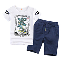 3 14Y Boys Clothing Sets Big Size Boys Clothes 20 Colors Fashion 2018 Summer Cotton Boys