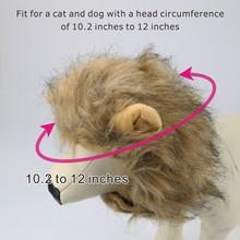 Adjustable Pet Hat For Dogs Cats Emulation Lion Hair Mane Ears Head Cap Scarf Pet Halloween Festival Costume 30