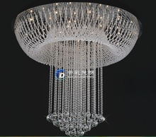 Free Shipping Ceiling Lamp Round Crystal Chandelier Light Fixture Crystal Lamp Bulbs included Stair Lighting Dia