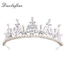 Vintage Rhinestone Pearl Princess Crowns tiara Wedding Hair Accessories Bride Head Jewelry Headpiece Hair ornaments Headdress