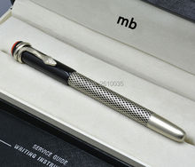 Classic metal carving silver snake clip mb brand roller ball pen stationery executive office supplies monte luxury writing pen