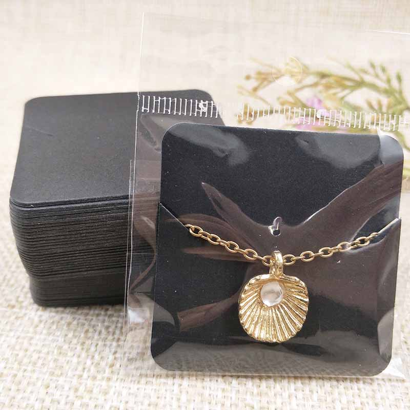 Wholesale Free Shipping 2018 New Pendant Card For1.96x1.96'' Black/white Necklace Card  5X5cm 300gsm Paper Cardboard  Card