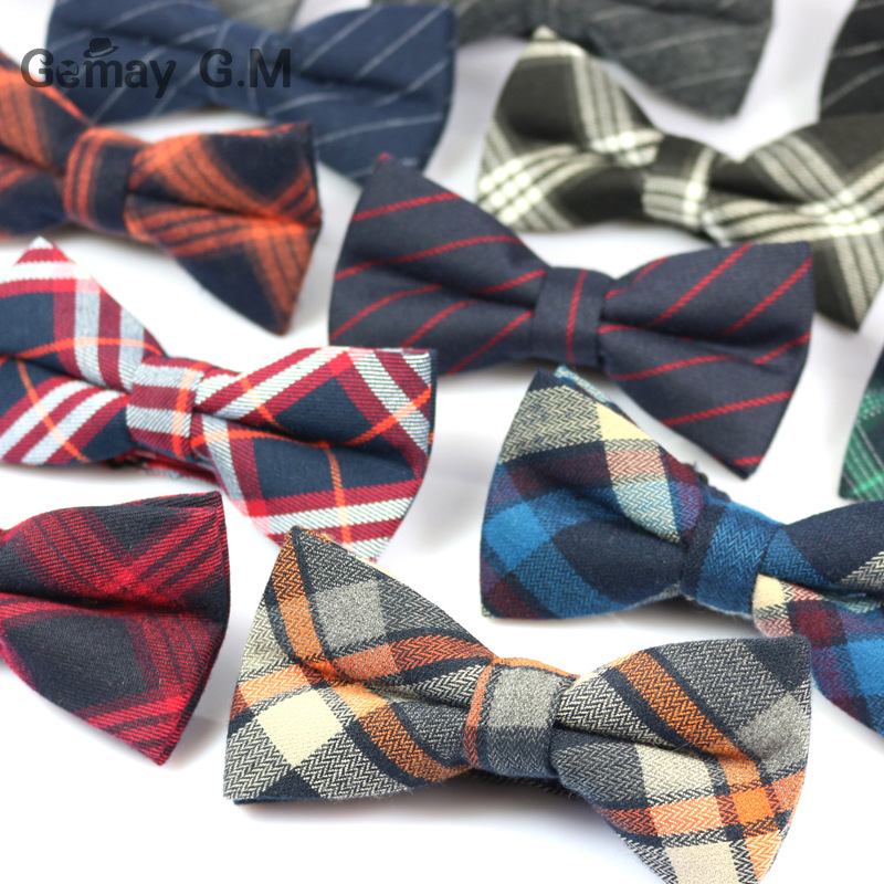 Formal Commercial Bowtie for Mens Wedding Party Male Skinny Plaid Bow ties Gravatas Slim Cravat Accessories