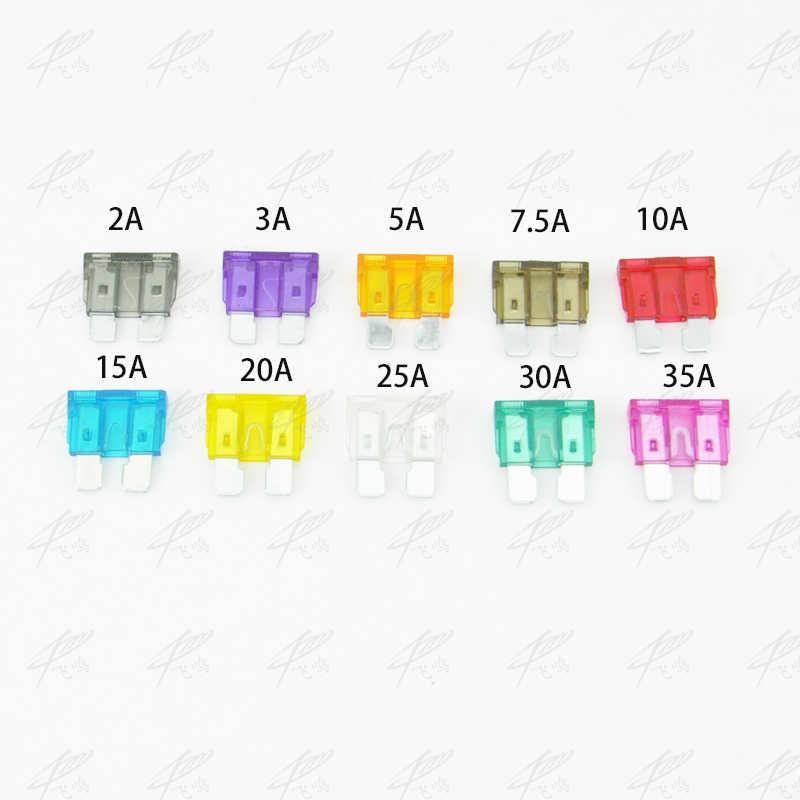 10 pcs/lot Standar medium pisau mobil sekering auto sekering Sekering mobil 2A 3A 5A 7.5A 10A 15A 20A 25A 30A 35A Gratis Pengiriman