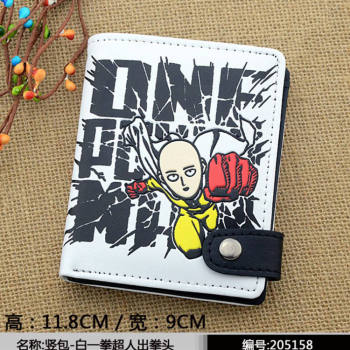 2016 anime One Punch-man Wallets Cute PU short purse 4 styles