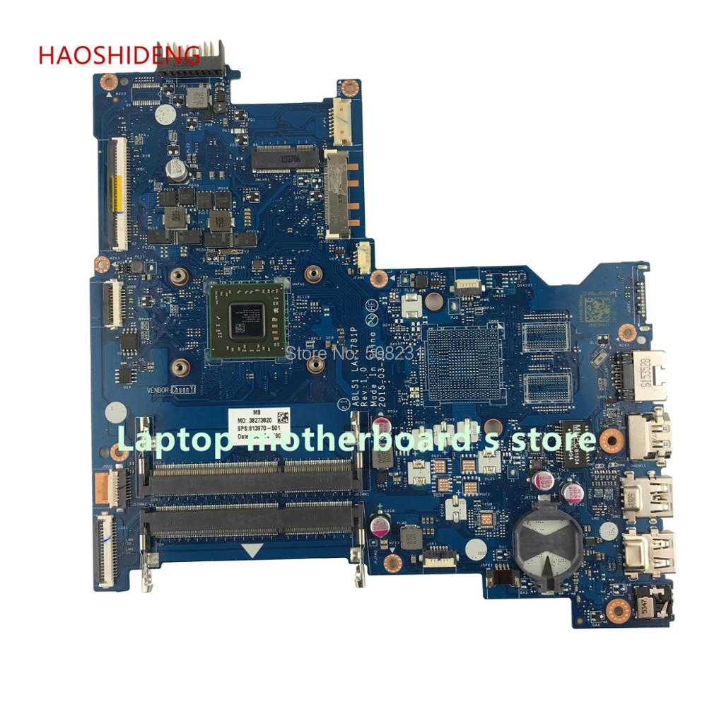 HAOSHIDENG 813970-001 813970-501 For HP NOTEBOOK 15-AF 15Z-AF 15-AF148CA motherboard ABL51 LA-C781P with A8-7410 fully Tested