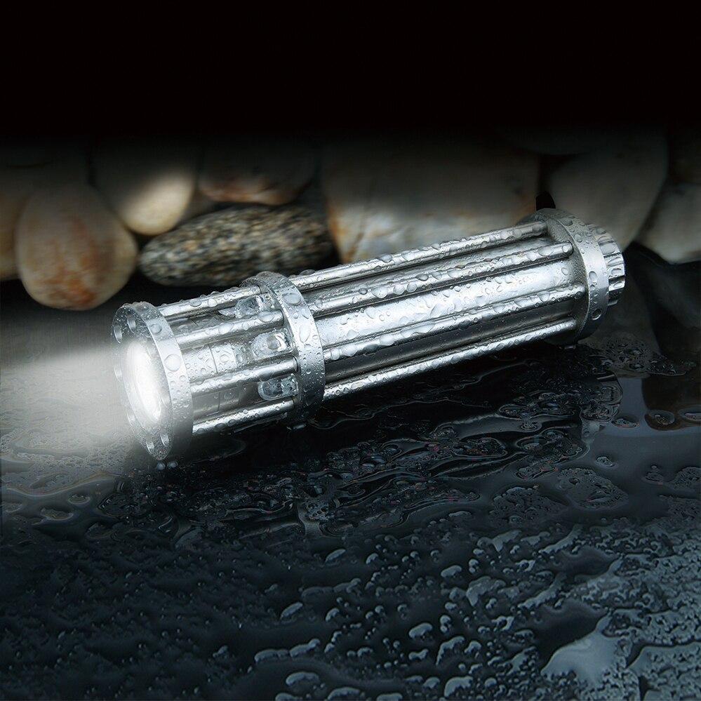 ФОТО Creative Flashlight UniqueFire F8 CREE R5 LED Light  Bright Birdcage Flashlight Stainless Steel Flashlight For 18650 Battery