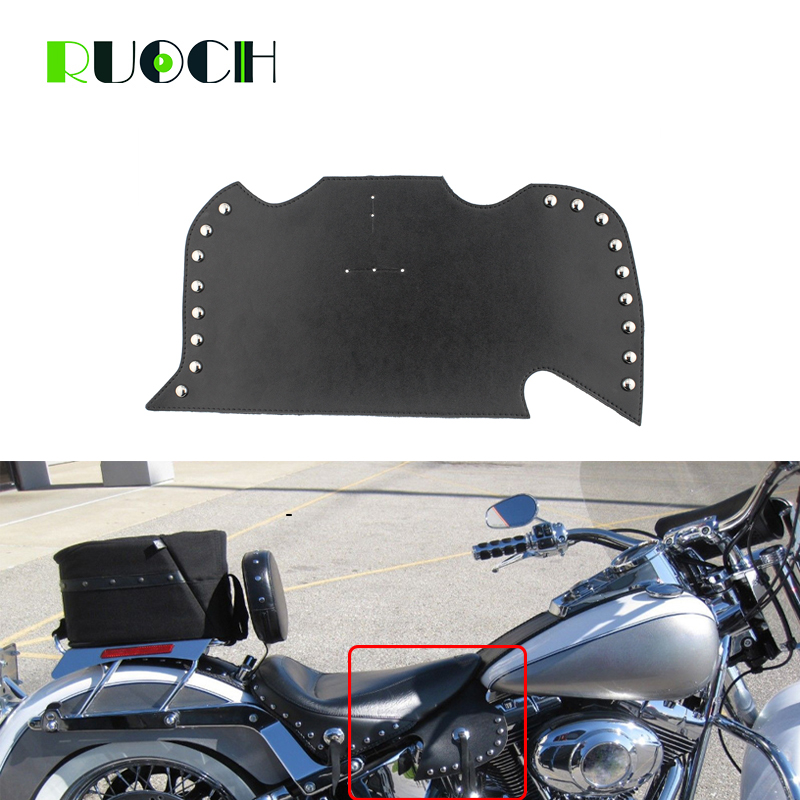 Motorcycle Thigh Saddle Shield Heat Deflectors Sportster Plain Leather Saddle Shield for Harley Touring Softail Dyna For Suzuki