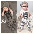 Moda de Verano Ropa de Bebé Establece 2 UNID Las Niñas Trajes de Algodón Monsters Establece Manga Corta T-shirt + Pants Infantil muchachos de la Ropa de Marca