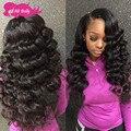 8a Mario Hair Brazilian Virgin Hair Loose Wave With lace Closure Cheap Brazilian Hair 3Bundles And Closure 100% Human Hair Weave