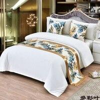 Bufanda con diseño de bandera/Toalla de cola de cama para casa  Hotel  dormitorio  ropa de cama  decoración de árbol dorado y colcha de árbol plateada|Caminos de mesa| |  -