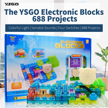 688 Projects Integrated Circuit Building Blocks Learning&Education Toys for Kids Physics Learning,LegoBlocks Educational Tools