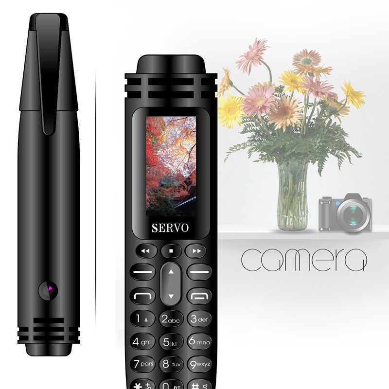 """SERVO K07 Bút mini Điện Thoại Di Động 0.96 """"Nhỏ Bé Màn Hình GSM Dual SIM Camera Đèn Pin Trình Quay Số Bluetooth Điện Thoại Di Động có Ghi Âm bút"""