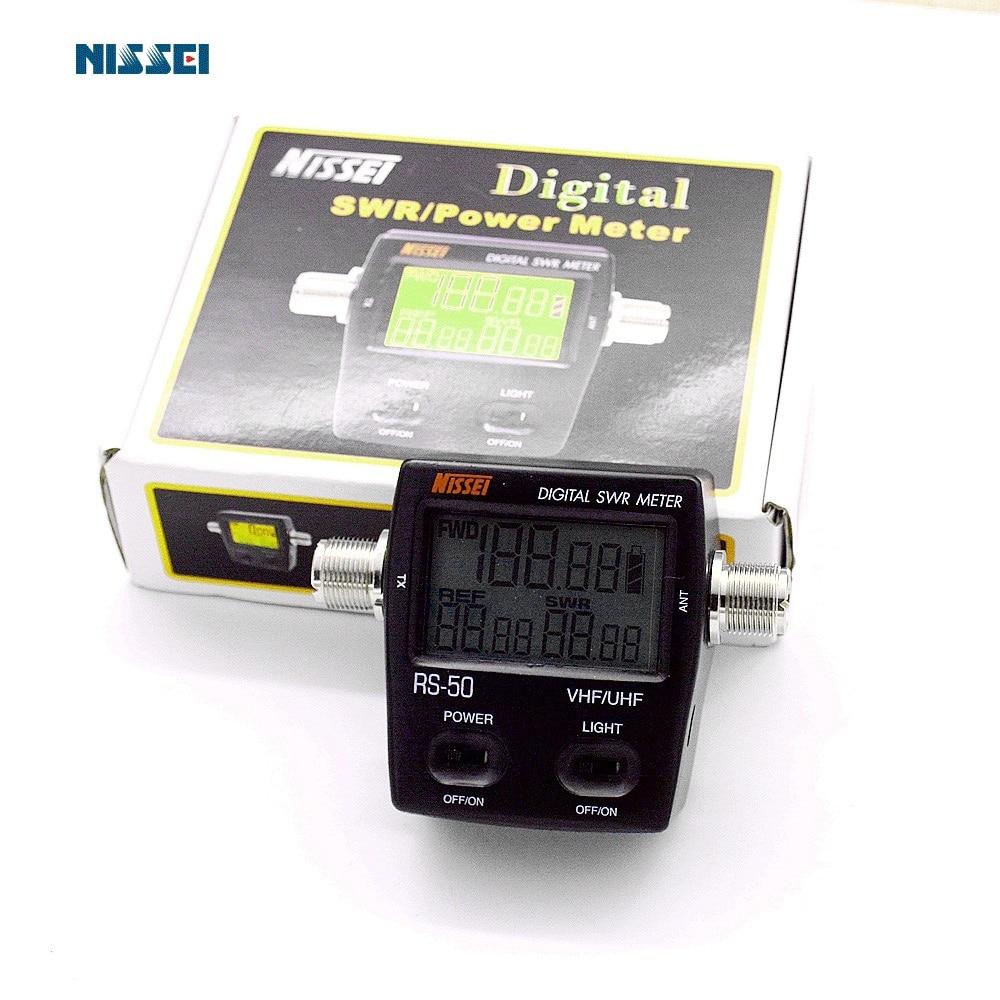 NISSEl RS 50 Digitale SWR Standing Wave & Power Meter 125 525 Mhz 120 W per la Radio Bidirezionale mini Protable Radio di prosciutto Tester-in Walkie-talkie da Cellulari e telecomunicazioni su  Gruppo 1