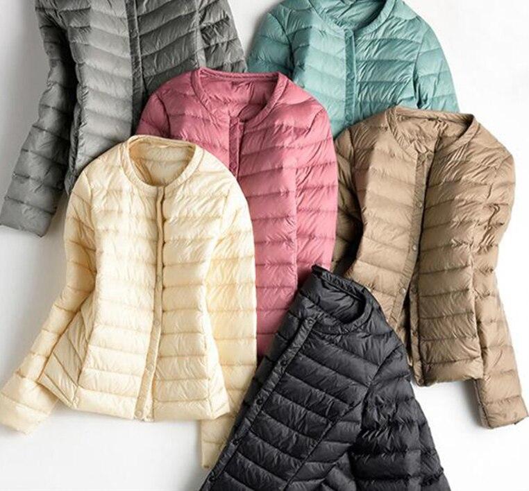 2019 Spring Plus Size 3XL Womens   Down   Jackets Ultra Light Duck   Down     Coat   Slim Short Black Autumn Women Jacket