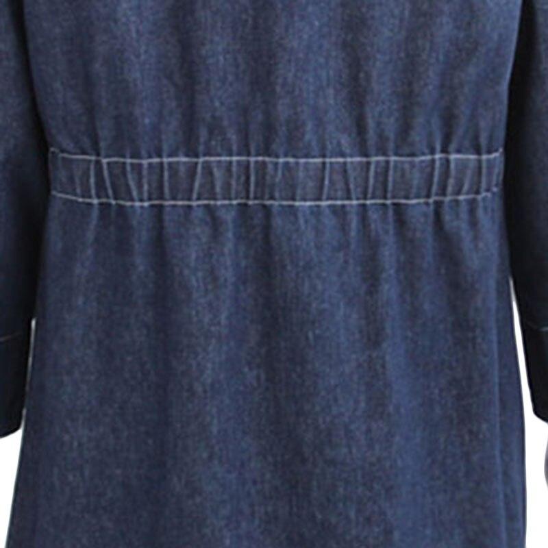 Denim Vestes breasted Mode Femmes Casual Manteau Jeans Veste Manteaux Base A371 Bleu Long Single De Blue Printemps Nouveau Lâche qEw7H7Z