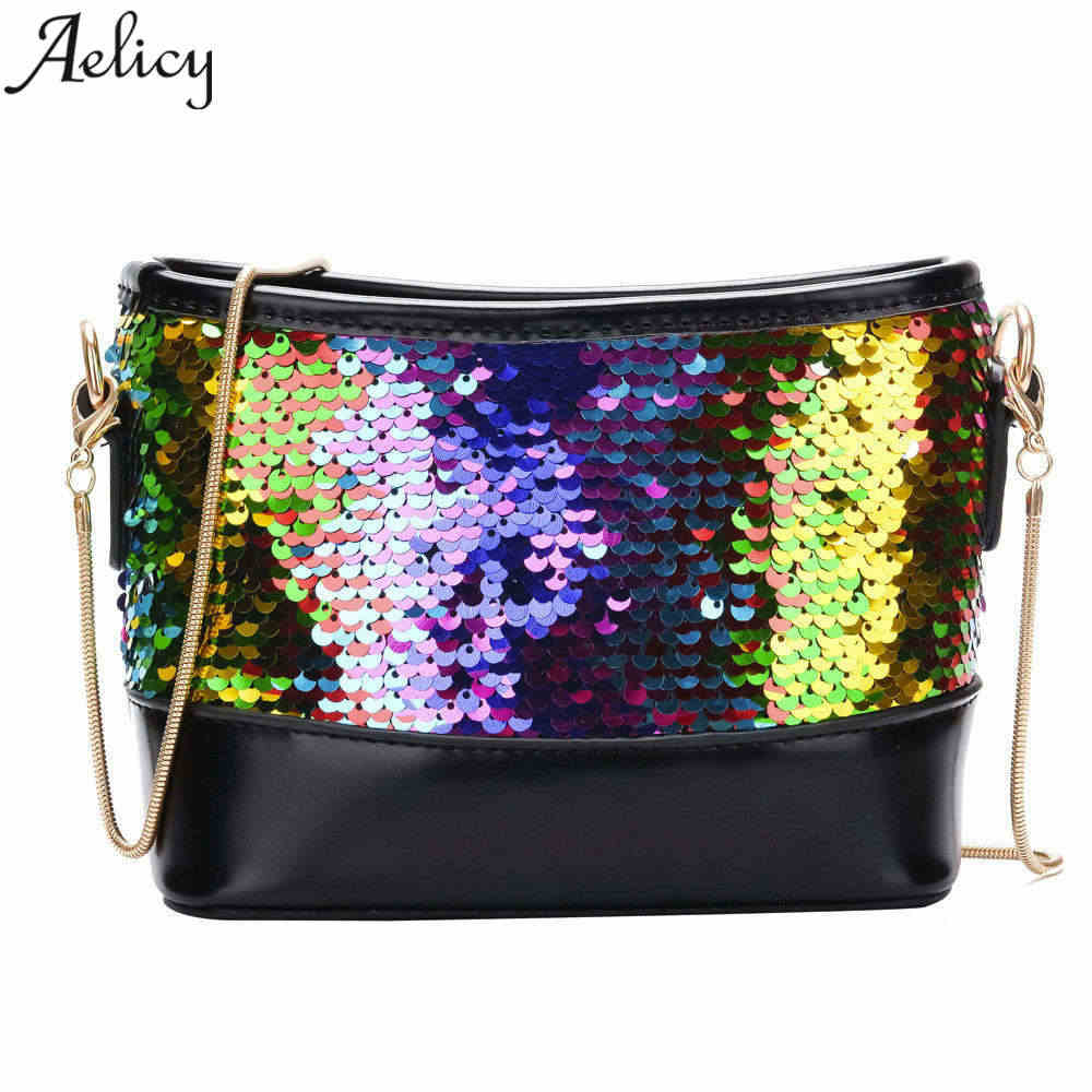 Detail Feedback Questions about Aelicy luxury Fashion Women Lady Shoulder  Wedding Clutch Bag Bling Sequins Chain Evening Handbag Purse Messenger Bag  for ... d91f4cf6b0ed