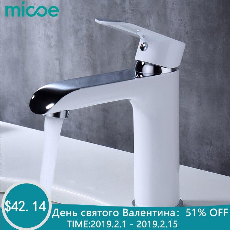 MICOE смеситель ванной кран бассейна смесителя латунный кран бассейна Раковина палуба Mountcold и горячей воды Нажмите
