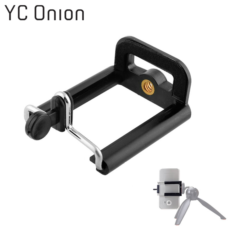 Universal Stretchable Mobile Phone Clip Holder Mount Bracket Adapter Selfie Stick Clip for Cell Phone Camera Tripod Stand Mount mobile phone