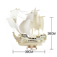 Hot Sale Jigsaw 3D Stereo Gift Handmade DIY Assembled Ancient Sailing Model Christmas Gift 3D Wooden