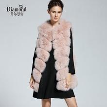 Natural Real Fox Fur Vest New 2016 Winter Long Thick Women Genuine Fur Vest Jacket Real Fur Vest Coats for Women